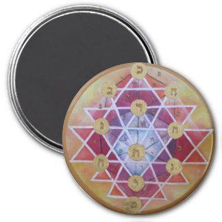 Sephirot 3 Inch Round Magnet