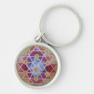 Sephirot Silver-Colored Round Keychain