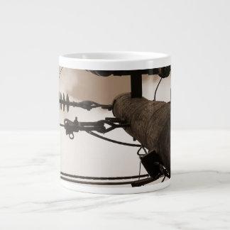 Sepia Abstract Jumbo Mug