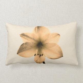 sepia amaryllis lumbar pillow