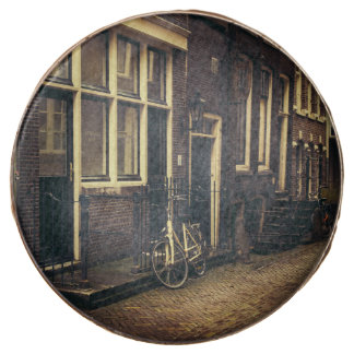 Sepia Amsterdam Street Photography, Bicycle Chocolate Covered Oreo