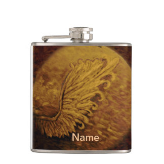 Sepia Angel Wing Hip Flask