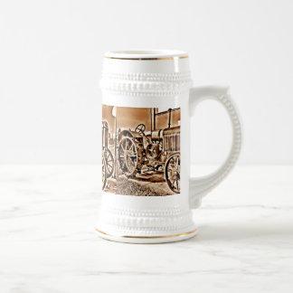 Sepia antigua de la obra clásica del equipamiento jarra de cerveza