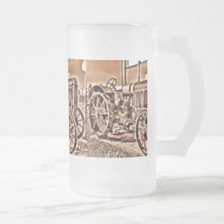 Sepia antigua de la obra clásica del equipamiento taza de cristal