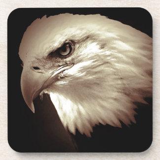 Sepia Bald Eagle Drink Coaster
