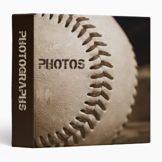 "Sepia Baseball 1.5"" Photo Album Binder"