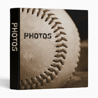 "Sepia Baseball 1"" Photo Album 3 Ring Binder"