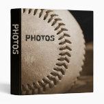 "Sepia Baseball 1"" Photo Album 3 Ring Binders"