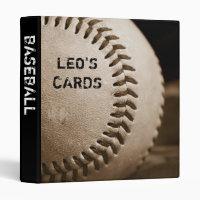 "Sepia Baseball 1"" Sports Cards Binder"