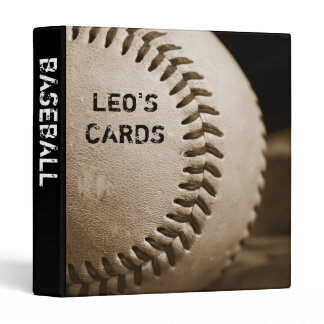 "Sepia Baseball 1"" Sports Cards Binder"