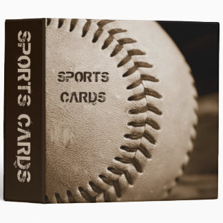"Sepia Baseball 2"" Sports Cards Album Binder"