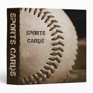 "Sepia Baseball Football 1.5"" Sports Cards Album Vinyl Binders"
