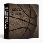 "Sepia Basketball 1"" Sports Cards Binder"