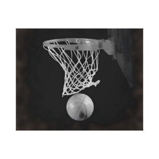 Sepia Basketball Artwork Wrapped Canvas