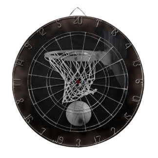 Sepia Basketball Dartboard With Darts