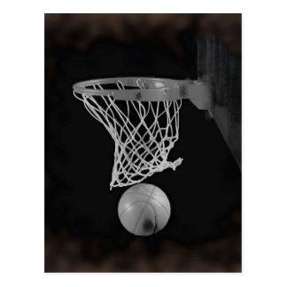 Sepia Basketball Postcard