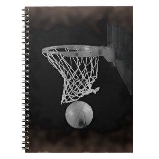 Sepia Basketball Spiral Notebook