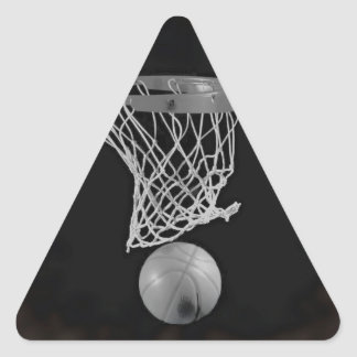 Sepia Basketball Triangle Sticker