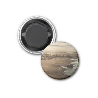 Sepia Beach Blue Water Magnet