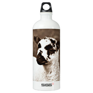 Sepia Beautiful Baby Lamb Farm Countryside Sweet Water Bottle