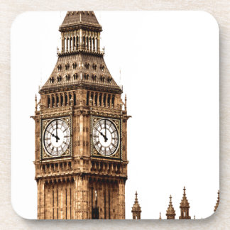 Sepia Big Ben Tower Beverage Coaster