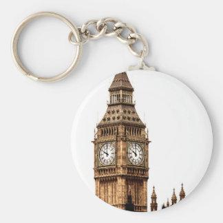 Sepia Big Ben Tower Keychain