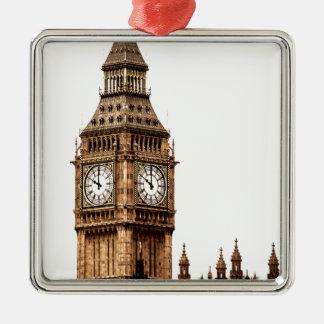 Sepia Big Ben Tower Metal Ornament