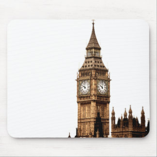 Sepia Big Ben Tower Mouse Pad