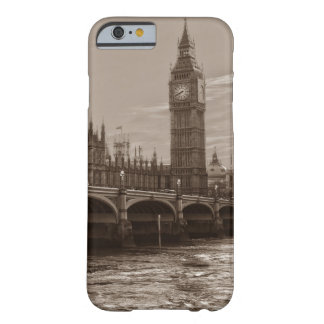 Sepia Big Ben Tower Palace of Westminster Barely There iPhone 6 Case