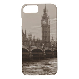 Sepia Big Ben Tower Palace of Westminster iPhone 7 Case