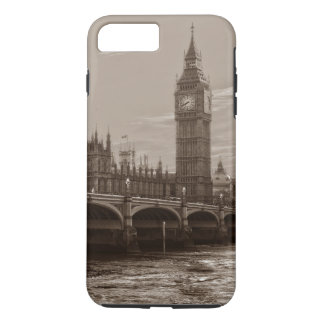 Sepia Big Ben Tower Palace of Westminster iPhone 7 Plus Case