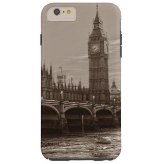 Sepia Big Ben Tower Palace of Westminster Tough iPhone 6 Plus Case
