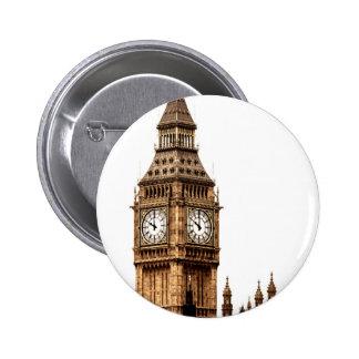 Sepia Big Ben Tower Pinback Button