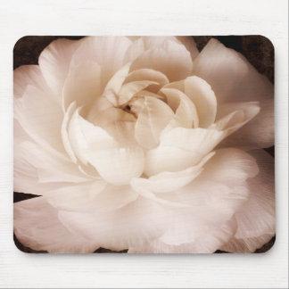 Sepia blanco y negro de la flor del ranúnculo tapetes de ratones