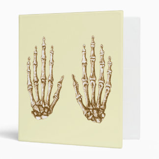 Sepia Bones of the Hand 3 Ring Binder