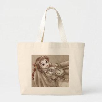 Sepia Bride Large Tote Bag