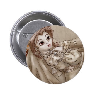 Sepia Bride Pinback Button
