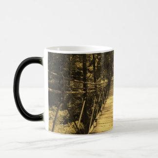 Sepia Bridge 11 Oz Magic Heat Color-Changing Coffee Mug