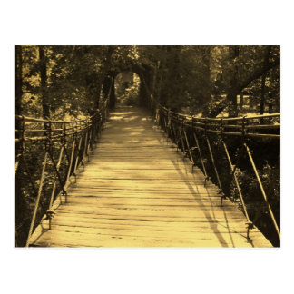 Sepia Bridge Postcard