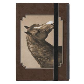 Sepia Brown del caballo de Morgan de la castaña iPad Mini Carcasa