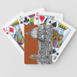 Sepia brown Florence Bicycle Card Deck