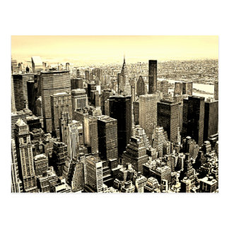 Sepia Brown New York City Old Style Postcard