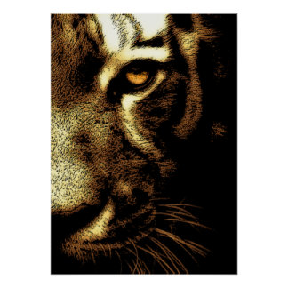 Sepia Brown Sumatran Borneo Tiger Eye Poster