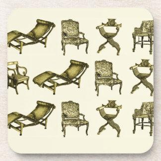 Sepia chairs coaster