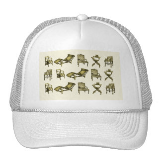 Sepia chairs trucker hat
