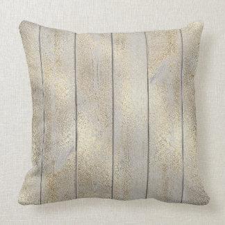 Sepia Champaign  Glam Metallic Wood Cottage Home Throw Pillow