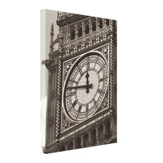 Sepia Close up Big Ben London Travel Canvas Print