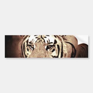 Sepia Close-up Tiger Eyes Bumper Sticker