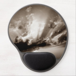 Sepia Clouds, Sky & Sunset Motivational Freedom Gel Mouse Pad