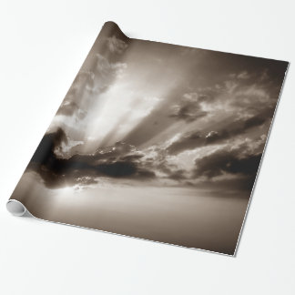 Sepia Clouds, Sky & Sunset Motivational Freedom Wrapping Paper